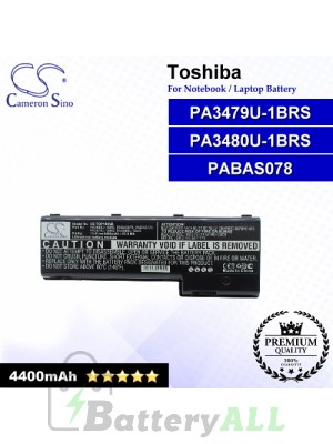 CS-TOP100NB For Toshiba Laptop Battery Model PA3479U-1BRS / PA3480U-1BRS / PABAS078
