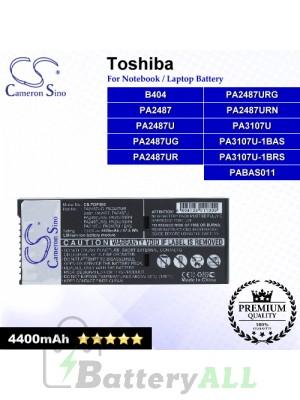 CS-TOP300 For Toshiba Laptop Battery Model B404 / PA2487 / PA2487U / PA2487UG / PA2487UR / PA2487URG
