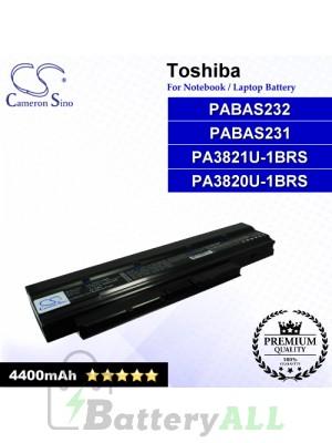 CS-TOT210NB For Toshiba Laptop Battery Model PA3820U-1BRS / PA3821U-1BRS / PABAS231 / PABAS232