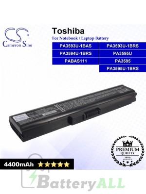 CS-TOU300NB For Toshiba Laptop Battery Model PA3593U-1BAS / PA3593U-1BRS / PA3594U-1BRS / PA3595