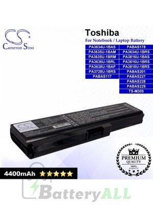 CS-TOU400NB For Toshiba Laptop Battery Model PA3634U-1BAS / PA3634U-1BRS / PA3635U-1BAM / PA3635U-1BRM