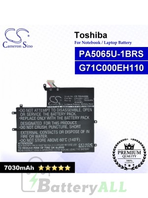 CS-TOU845NB For Toshiba Laptop Battery Model G71C000EH110 / PA5065U-1BRS
