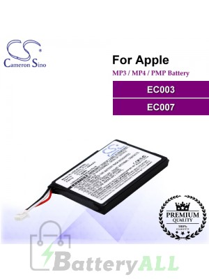 CS-EC003SL For Apple Mp3 Mp4 PMP Battery Model EC003 / EC007