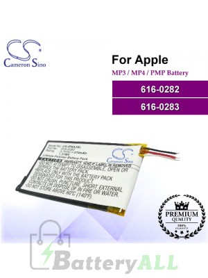 CS-IPNA2SL For Apple Mp3 Mp4 PMP Battery Model 616-0282 / 616-0283