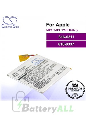 CS-IPNA3SL For Apple Mp3 Mp4 PMP Battery Model 616-0311 / 616-0337