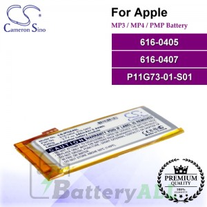 CS-IPNA4SL For Apple Mp3 Mp4 PMP Battery Model 616-0405 / 616-0407 / P11G73-01-S01