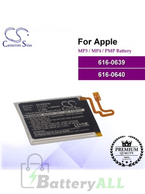CS-IPNA7SL For Apple Mp3 Mp4 PMP Battery Model 616-0639 / 616-0640