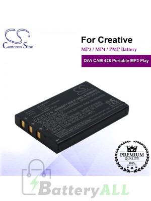 CS-CM428SL For Creative Mp3 Mp4 PMP Battery Fit Model DiVi CAM 428 Portable MP3 Play