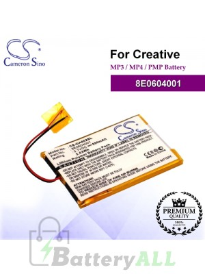 CS-DA002SL For Creative Mp3 Mp4 PMP Battery Model 8E0604001