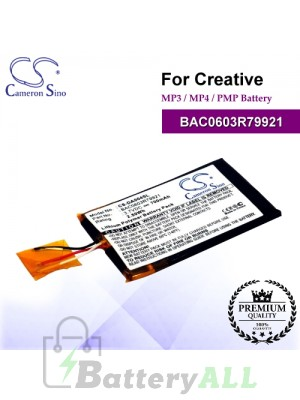 CS-DA004SL For Creative Mp3 Mp4 PMP Battery Model BAC0603R79921