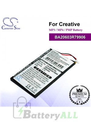 CS-DA007SL For Creative Mp3 Mp4 PMP Battery Model BA20603R79906