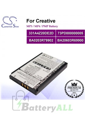 CS-R79902SL For Creative Mp3 Mp4 PMP Battery Model 331A4Z20DE2D / 73PD000000005 / BA0203R79902 / BA20603R69900