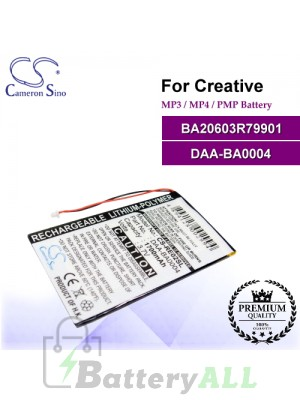 CS-RE02SL For Creative Mp3 Mp4 PMP Battery Model BA20603R79901 / DAA-BA0004