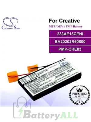 CS-RE03SL For Creative Mp3 Mp4 PMP Battery Model 233AE15CENI / BA20203R60800 / PMP-CRE03