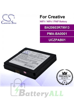 CS-UCZPASL For Creative Mp3 Mp4 PMP Battery Model BA20603R79913 / PMA-BA0001 / UCZPAB01
