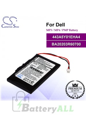 CS-DJ50SL For Dell Mp3 Mp4 PMP Battery Model 443A5Y01EHA4 / BA20203R60700