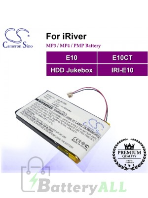 CS-IE10SL For iRiver Mp3 Mp4 PMP Battery Fit Model E10 / E10CT / HDD Jukebox / IRI-E10