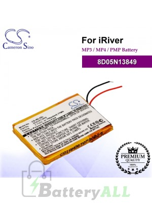CS-IRL2SL For iRiver Mp3 Mp4 PMP Battery Model 8D05N13849