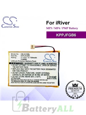 CS-IU10SL For iRiver Mp3 Mp4 PMP Battery Model KPPJFGB6