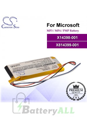 CS-MZF8SL For Microsoft Mp3 Mp4 PMP Battery Model X14398-001 / X814399-001