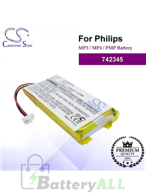 CS-PS082SL For Philips Mp3 Mp4 PMP Battery Model 742345