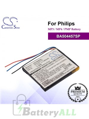 CS-PS083SL For Philips Mp3 Mp4 PMP Battery Model BA504457SP