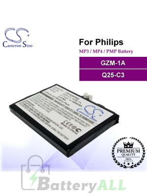 CS-SA630SL For Philips Mp3 Mp4 PMP Battery Model GZM-1A / Q25-C3