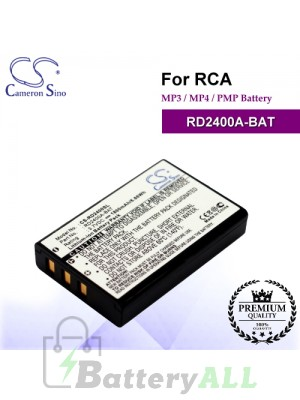 CS-RD2400SL For RCA Mp3 Mp4 PMP Battery Model RD2400A-BAT