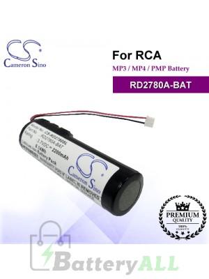 CS-RD2780SL For RCA Mp3 Mp4 PMP Battery Model RD2780A-BAT