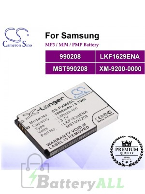 CS-PXM6SL For Samsung Mp3 Mp4 PMP Battery Model 990208 / LKF1629ENA / MST990208 / XM-9200-0000