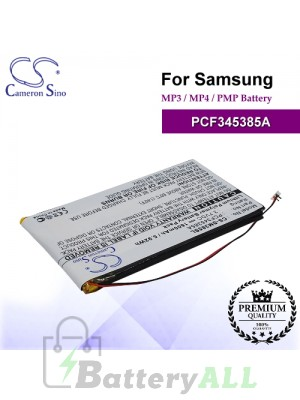 CS-SM385SL For Samsung Mp3 Mp4 PMP Battery Model PCF345385A