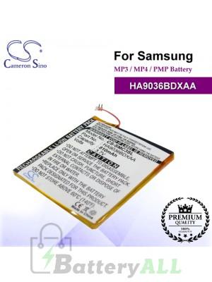 CS-SMC3SL For Samsung Mp3 Mp4 PMP Battery Model HA9036BDXAA