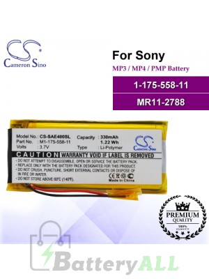 CS-SAE400SL For Sony Mp3 Mp4 PMP Battery Model 1-175-558-11 / MR11-2788