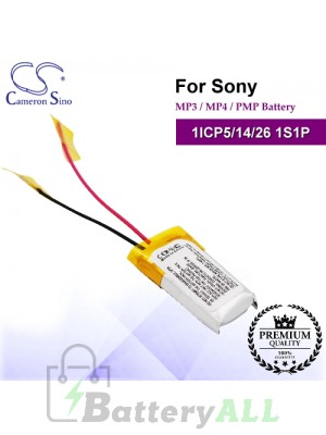 CS-SNW262SL For Sony Mp3 Mp4 PMP Battery Model 1ICP5/14/26 1S1P