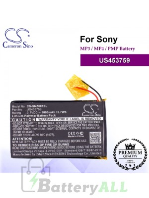 CS-SNZ001SL For Sony Mp3 Mp4 PMP Battery Model US453759