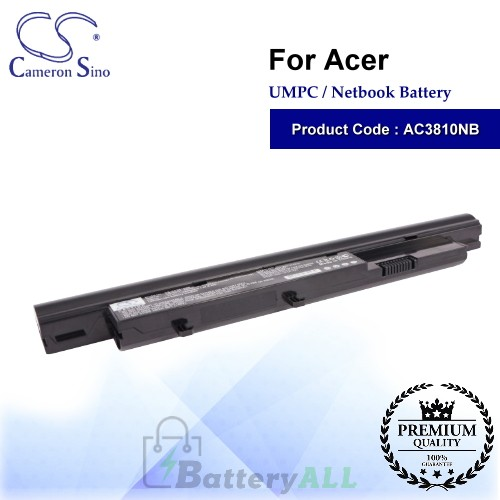CS-AC3810NB For Acer UMPC Netbook Battery Model 3INR18/65-2 / 934T4070H / AK.006BT.027 / AS09D31 / AS09D34