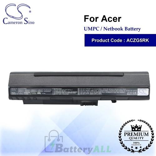 CS-ACZG5RK For Acer UMPC Netbook Battery Model 2006DJ2341 / 4104A-AR58XB63 / AR5BXB63 / BT00307005826024212500 / C-5448
