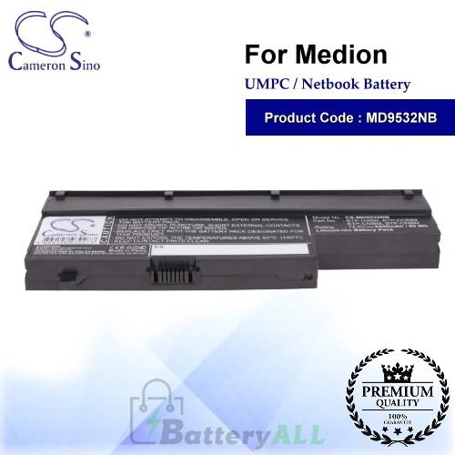 CS-MD9532NB For Medion UMPC Netbook Battery Model 40026269 / 40027608 / 40029779 / BTP-CMBM / BTP-CNBM