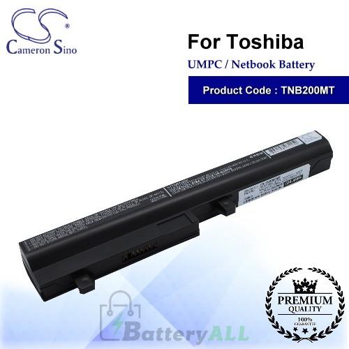 CS-TNB200MT For Toshiba UMPC Netbook Battery Model GC02000XV10 / L007221 / PA3731U-1BRS / PA3732U-1BAS / PA3733U-1BRS