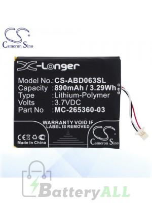 CS Battery for Amazon 58-000083 / 58-000151 / MC-265360-03 Battery ABD063SL
