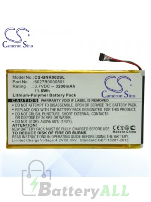CS Battery for Barnes & Noble DR-NK02 / Nook 7 inch / Nook Tablet Battery BNR002SL