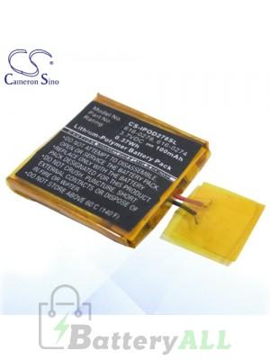 CS Battery for Apple 616-0274 / 616-0278 Battery IPOD278SL