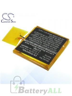 CS Battery for Apple iPod Shuffle G3 / G2 1GB Battery IPOD278SL