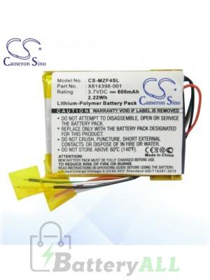 CS Battery for Microsoft Zune HVA-00001 HVA-00003 HVA-00005 Battery MZF4SL