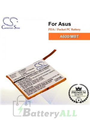 CS-A600SL For Asus PDA / Pocket PC Battery Model A600/MBT