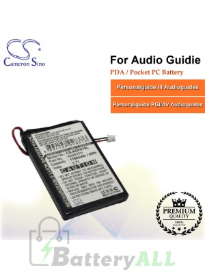 CS-AGP01SL For Audio Guidie PDA / Pocket PC Battery Fit Model Personalguide III Audioguides / Personalguide PGI/AV Audioguid