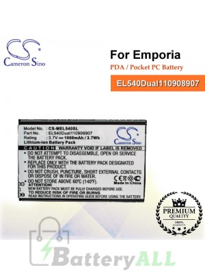 CS-MEL540SL For Emporia PDA / Pocket PC Battery Model EL540Dual110908907