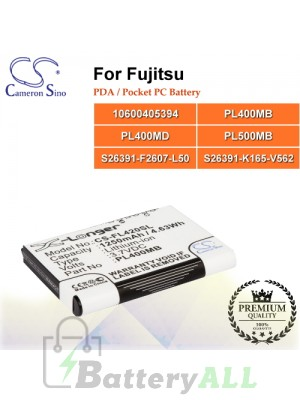CS-FL420SL For Fujitsu PDA / Pocket PC Battery Model 10600405394 / PL400MB / PL400MD / PL500MB / S26391-F2607-L50 / S26391-K165-V562