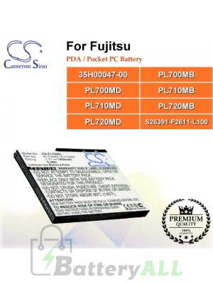CS-FL720SL For Fujitsu PDA / Pocket PC Battery Model 35H00047-00 / PL700MB / PL700MD / PL710MB / PL710MD / PL720MB / PL720MD / S26391-F2611-L100