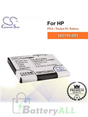 CS-IP4100SL For HP PDA / Pocket PC Battery Model 343110-001